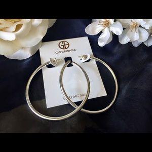 Giani Bernini sterling silver hoop earrings large